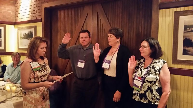 Swearing in of the 2014-2015 Division Officers