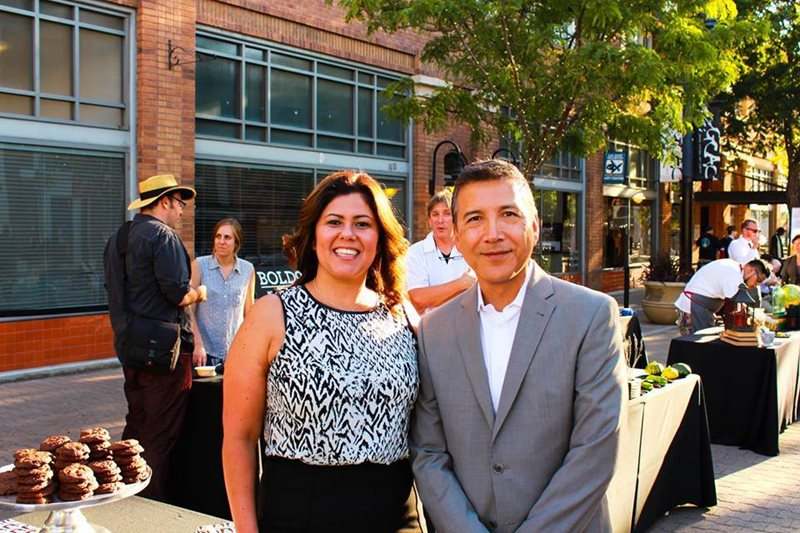 Santa Ana Councilmembers Michelle Martinez and Vince Sarmiento.